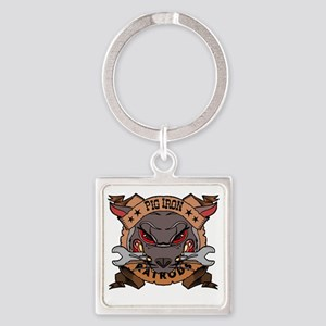 Pig Iron Rat Rods Square Keychain