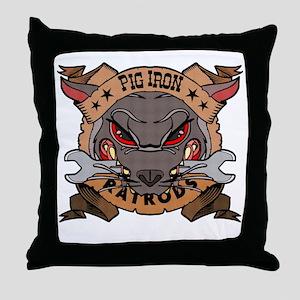 Pig Iron Rat Rods Throw Pillow