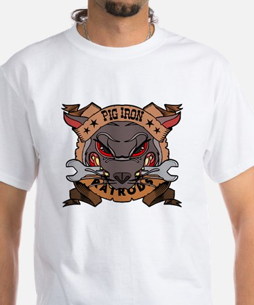 Pig Iron Rat Rods White T-Shirt