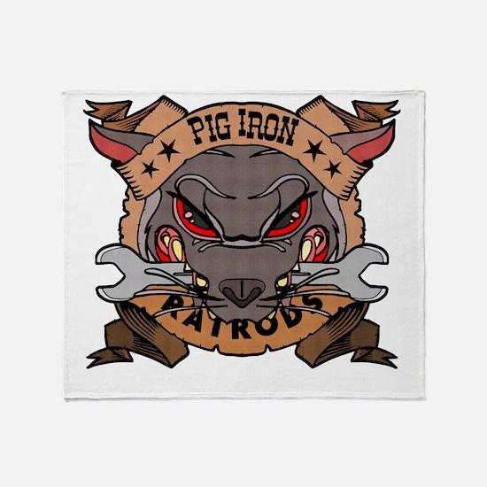 Pig Iron Rat Rods Throw Blanket