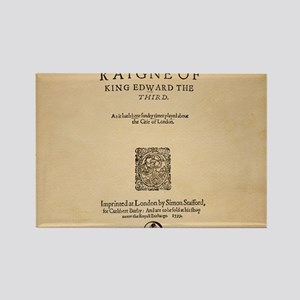 King Edward Frontpiece (1599) Rectangle Magnet