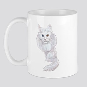 Turkish Angora caricature Mug