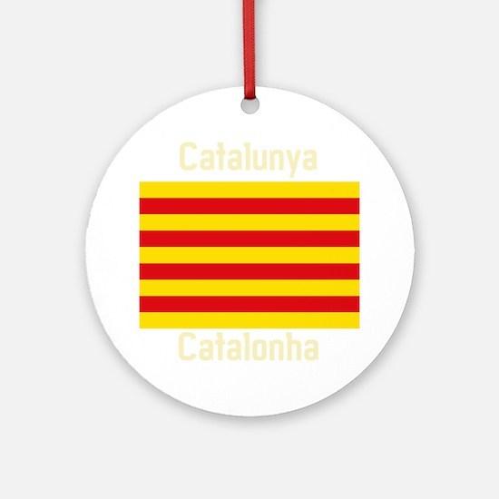 Catalonia (Dark) Round Ornament