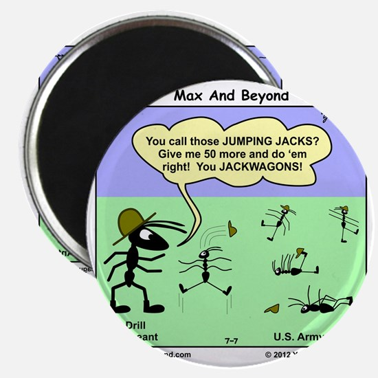 Max and Beyond U.S. Army Ants Cartoon Magnet