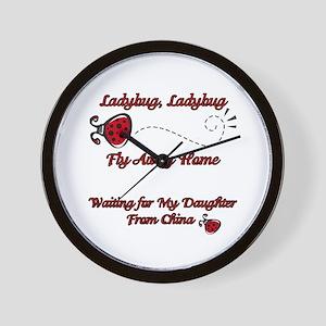 Ladybug Fly Away China Adoption Wall Clock