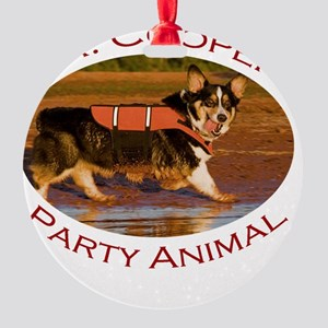 Dr. Cooper...Party Animal Round Ornament