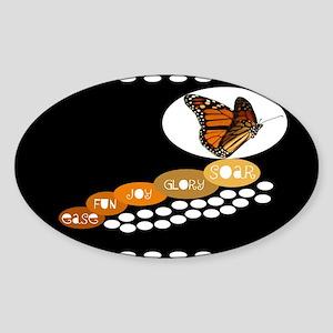 12x12 ease fun joy glory soar butterfly Sticker