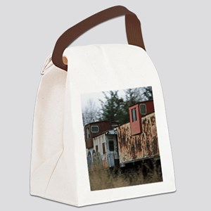 Two Cabooses Canvas Lunch Bag