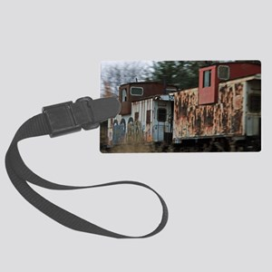 Two Cabooses Large Luggage Tag