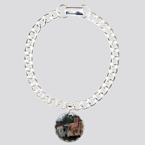 Two Cabooses Charm Bracelet, One Charm
