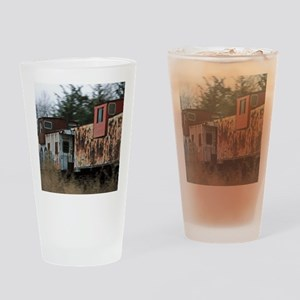 Two Cabooses Drinking Glass