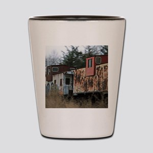 Two Cabooses Shot Glass