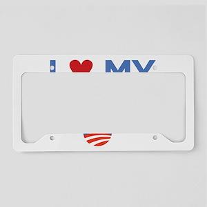 I Heart my President License Plate Holder