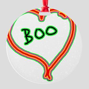 i love boo heart Round Ornament