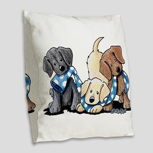 Lab Play Burlap Throw Pillow