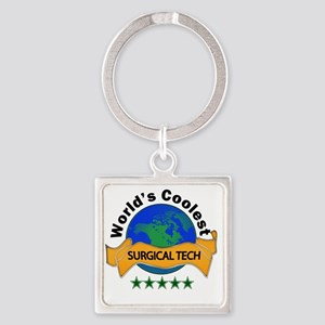 surgical tech Square Keychain