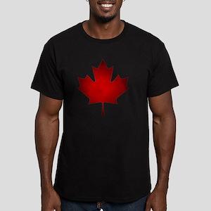 Maple Leaf Grunge Men's Fitted T-Shirt (dark)
