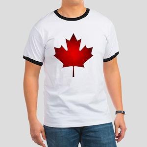 Maple Leaf Grunge Ringer T