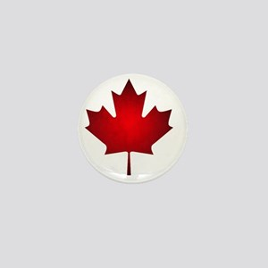 Maple Leaf Grunge Mini Button