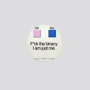Binary + Text Mini Button