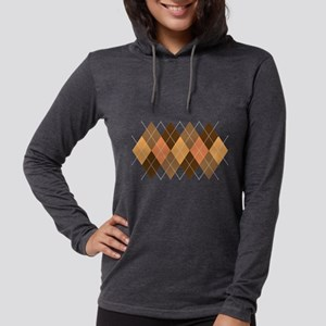 Chocolate Argyle Long Sleeve T-Shirt