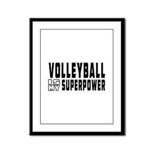 Volleyball Is My Superpower Framed Panel Print
