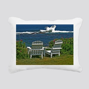 Surfside Oceanfront View Rectangular Canvas Pillow