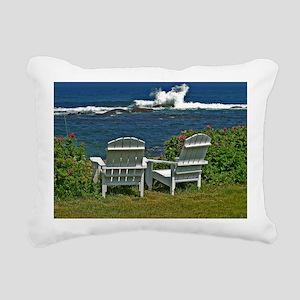 Surfside Oceanfront View Rectangular Canvas Pillow