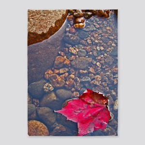 Maple Leaf on the Water 5'x7'Area Rug