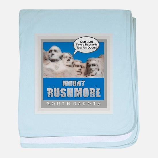 Mount Rushmore - Humor baby blanket