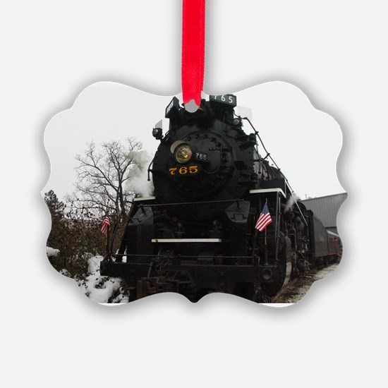 Steam Engine Christmas - Cover Ornament