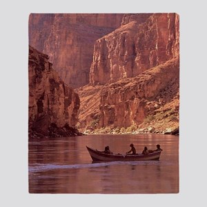 Grand Canyon Dory at Sunrise Throw Blanket