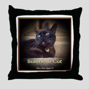 Burmese Cat (FancieR) Throw Pillow