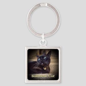 Burmese Cat (FancieR) Square Keychain