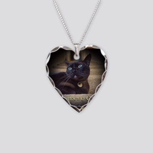 Burmese Cat (FancieR) Necklace Heart Charm