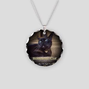 Burmese Cat (FancieR) Necklace Circle Charm