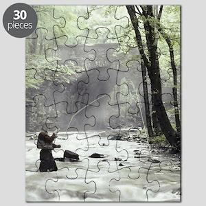 448c394b4dba Fly Fisherman in Misty Stream Puzzle