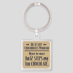 Chocoholic Square Keychain