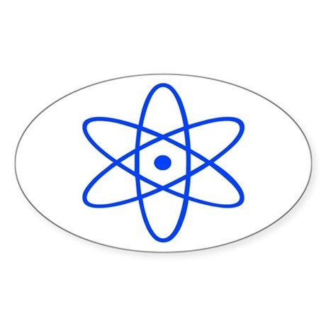Bohr's Model of the Atom Oval Sticker