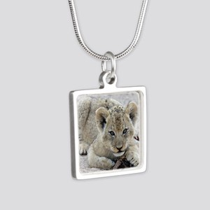 This Is MY Stick Silver Square Necklace