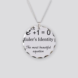 Beautiful Eulers Identity Necklace Circle Charm