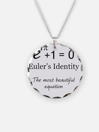 Beautiful Eulers Identity Necklace Circle Charm