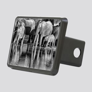Elephant Reflections Rectangular Hitch Cover