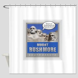 Mount Rushmore - Humor Shower Curtain