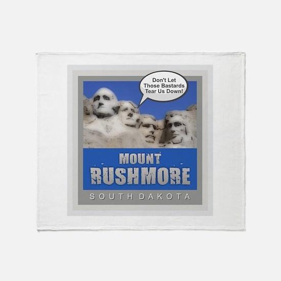 Mount Rushmore - Humor Throw Blanket