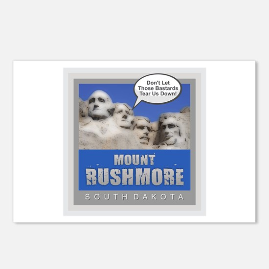 Mount Rushmore - Humor Postcards (Package of 8)