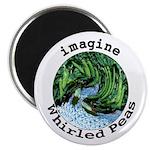 "Imagine Whirled Peas 2.25"" Magnet (100 pack)"