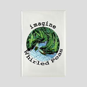 Imagine Whirled Peas Rectangle Magnet