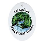 Imagine Whirled Peas Ornament (Oval)