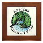 Imagine Whirled Peas Framed Tile